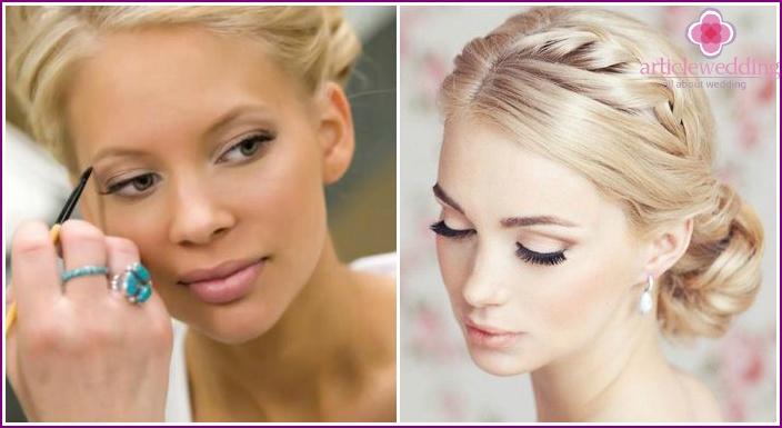 Rules wedding make-up eye for blondes