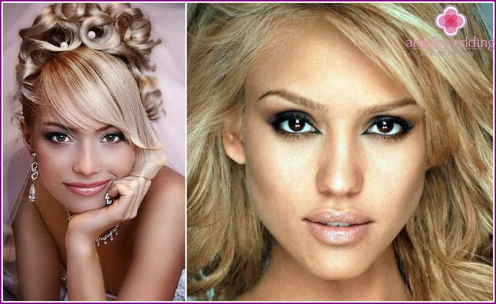 Make-up for blondes with brown eyes