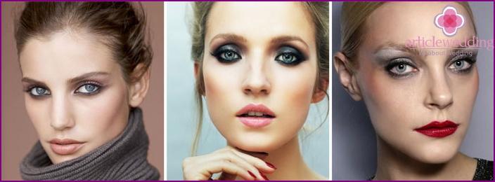 Smoky eyes for bridesmaids