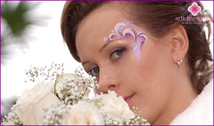 Unusual wedding makeup