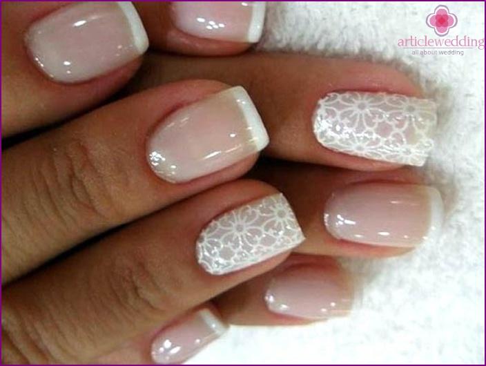 Wedding manicure their hands