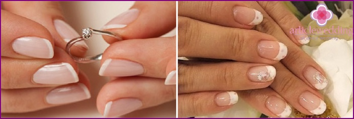 The wedding jacket - classic manicure