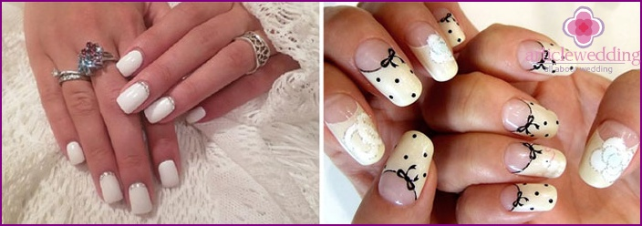 What's New Lunar nail-art to the wedding
