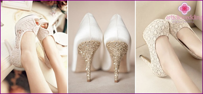 White shoes with high heels