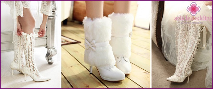 Wedding boots for the bride