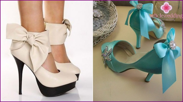 Tiffany shoes with ribbons of color