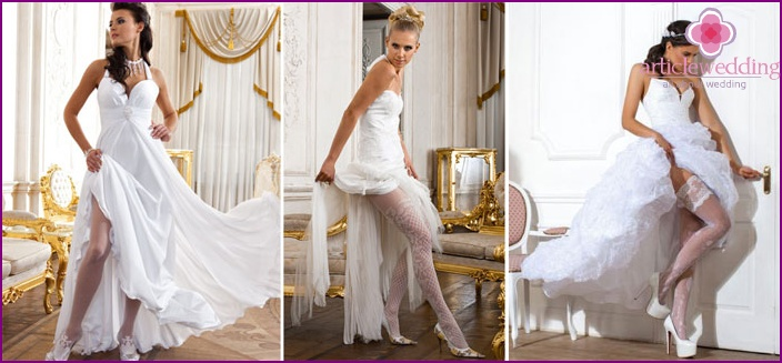 White tights for the bride