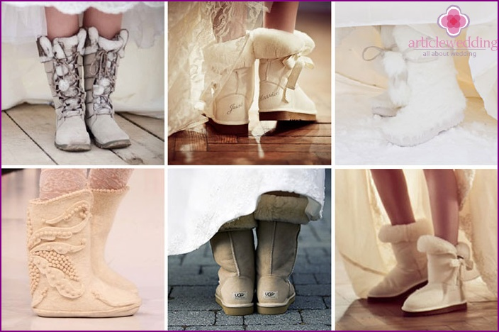 Winter boots for wedding