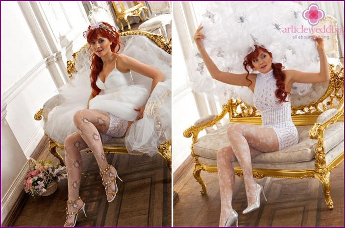 Variants of tights for the bride