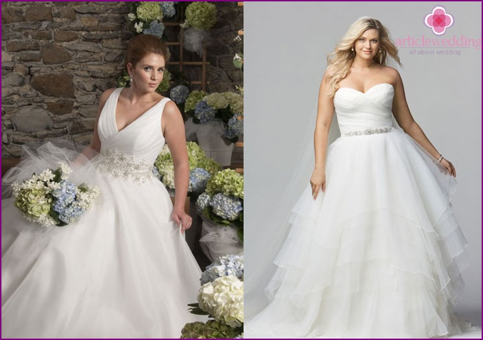 White wedding dress with tulle