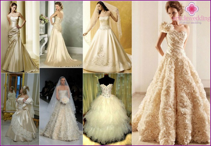 Apparel bride champagne color splashes