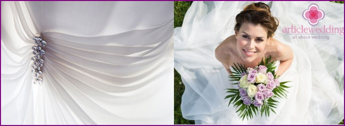 Finishing dress Lurex yarns