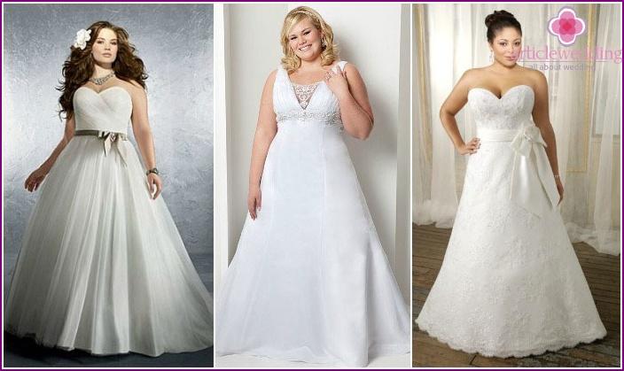 Wedding dress bride full-trapezoid