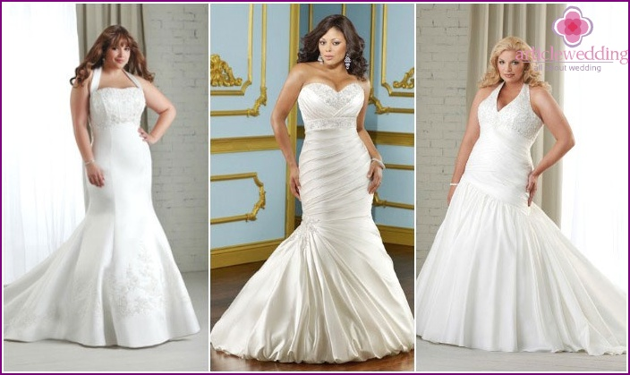 """Wedding """"mermaid"""" for full girls"""