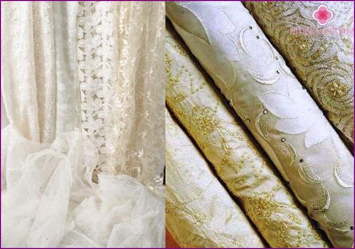 Fabrics for wedding dresses for the full