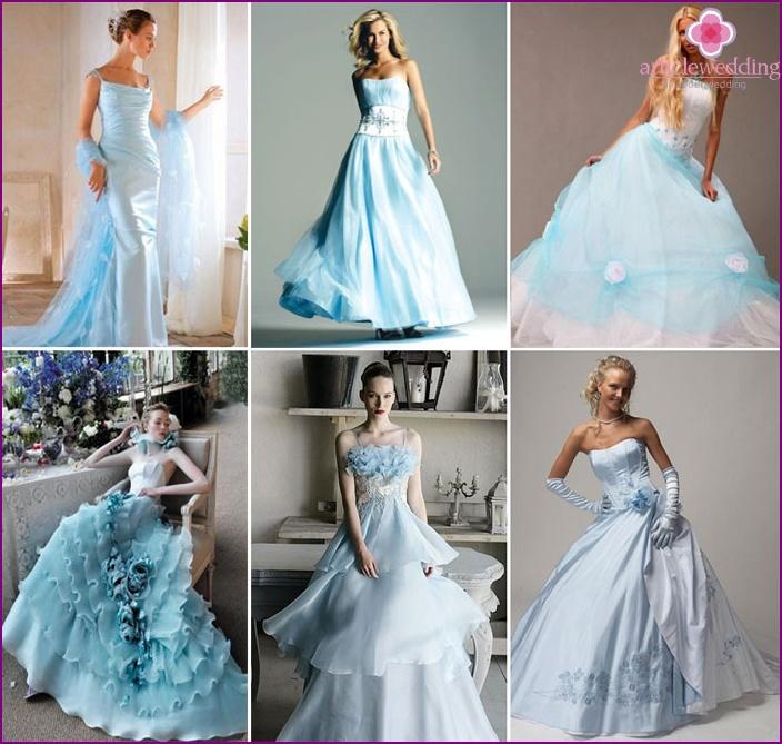 Купить Голубое Свадебное Платье