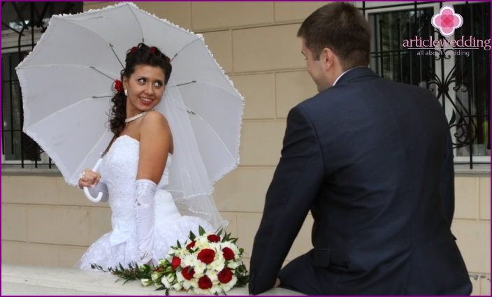 Umbrellas for a wedding celebration