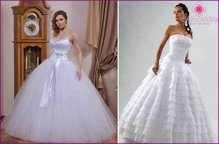 Snow White classic bride dress