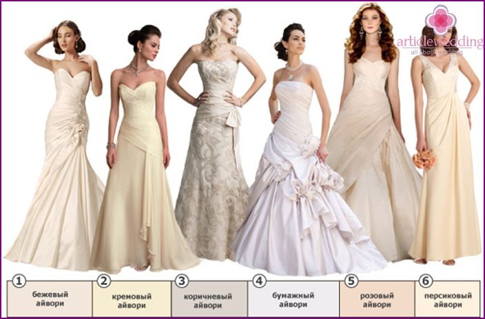 Wedding dress ivory color