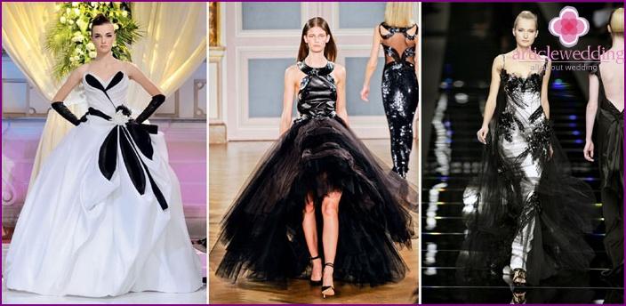 Dresses Yudashkin with black elements for brides