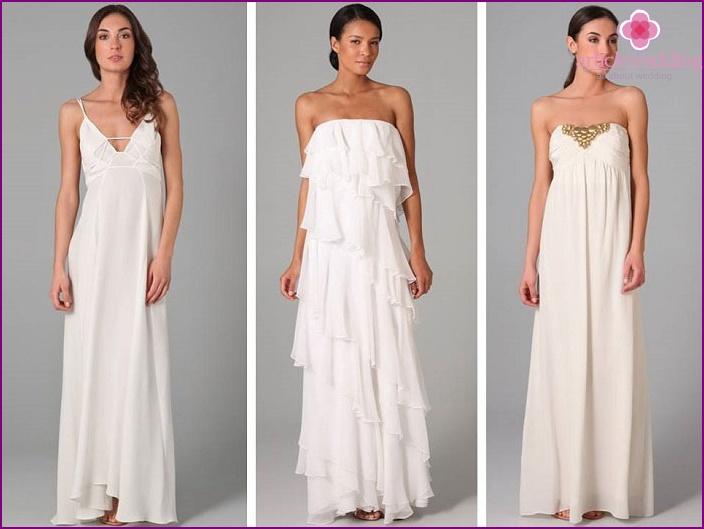 Super abiti da sposa Beach - modelli e stili del 2015 con foto GA69