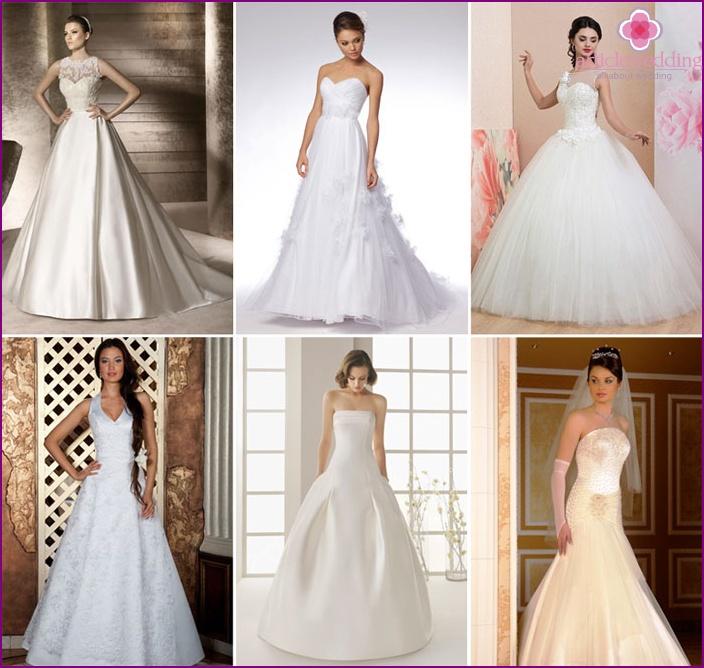 A-shaped wedding dress