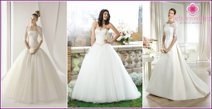 A selection of photos of lush wedding dresses for girls