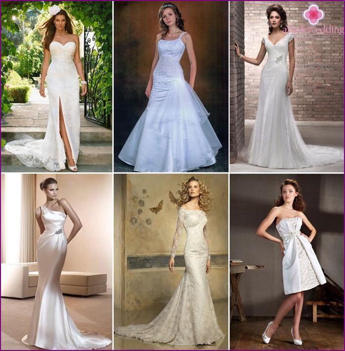 Close-fitting lace wedding dresses