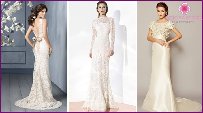 Tight-fitting wedding dresses