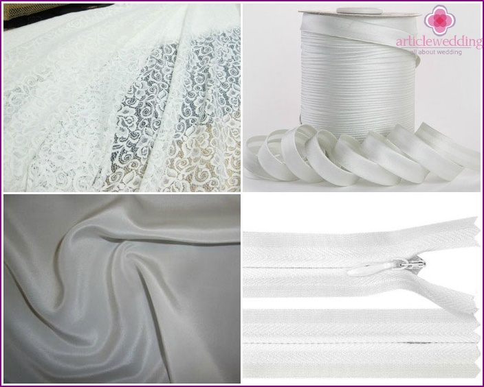 Materials for Tailoring lace bridesmaid dresses