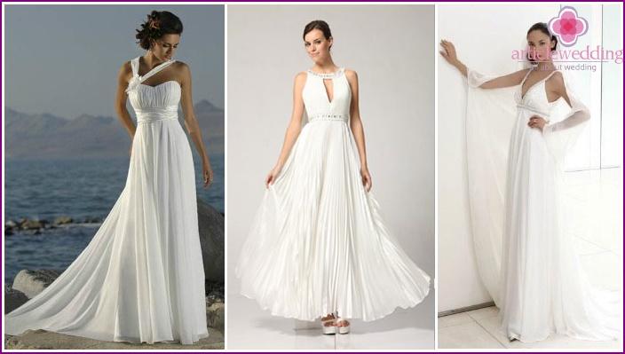 Wedding Dress Greek style wedding