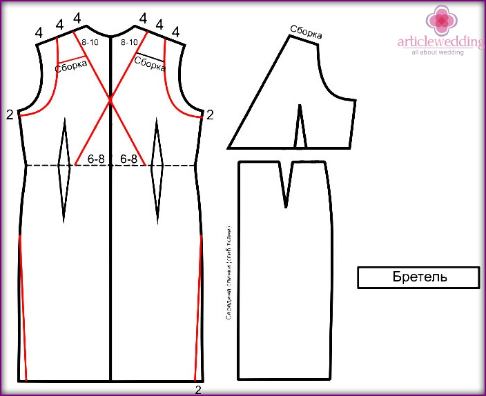 Pattern back in the Greek style dresses for wedding