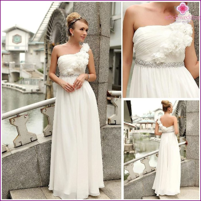 Florist Camisole dress for the bride in Greek