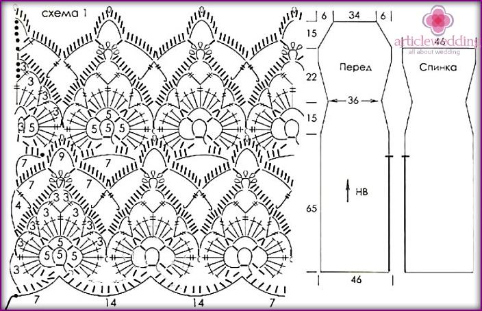 Новые схемы и модели для вязания крючком 619