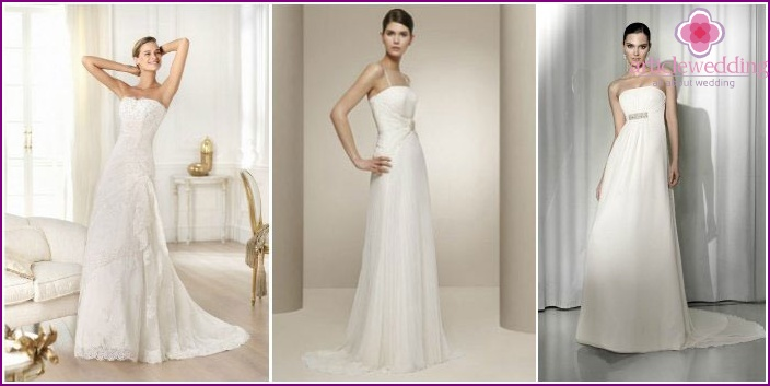 As in ancient Greece: elegant wedding decoration A-line