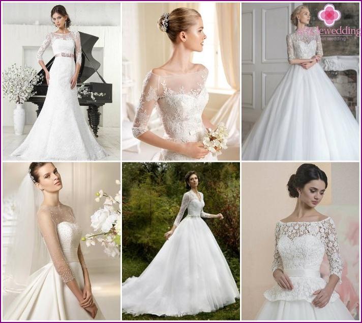 3/4 sleeves on wedding models
