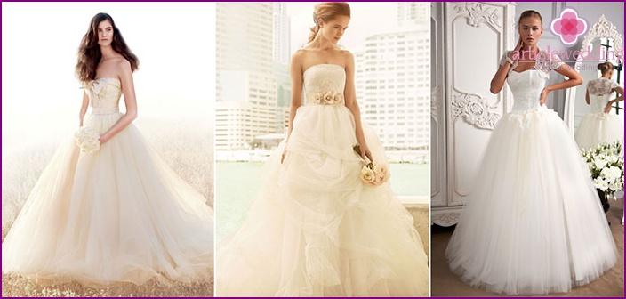 Creme kleurige trouwjurk
