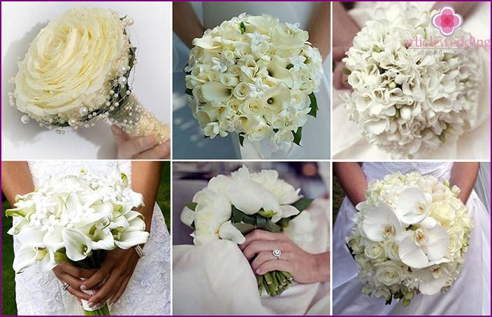 Weisse Hochzeit Bouquet Wie Die Optionen Zu Wahlen Farben Mit Fotos