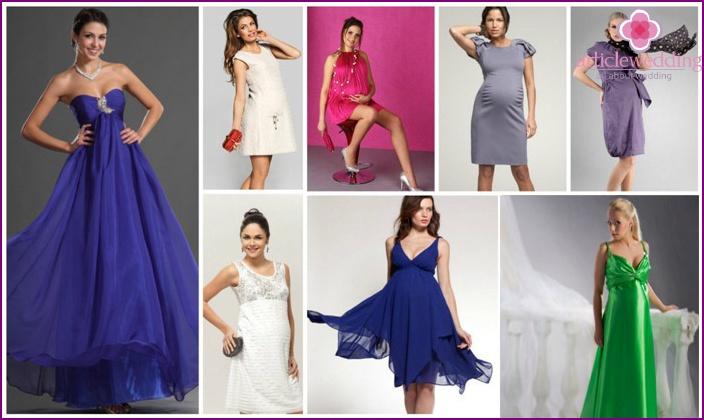 Evening dress for wedding for pregnant women