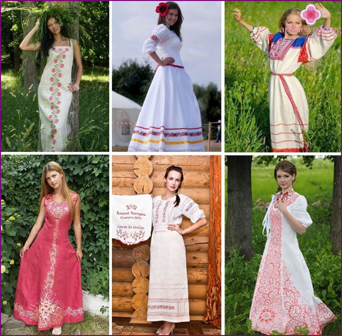 Wedding clothes in Russian style