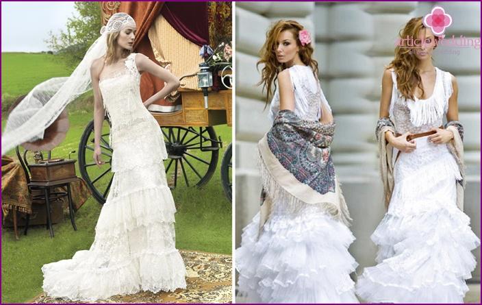 Gypsy image of the bride