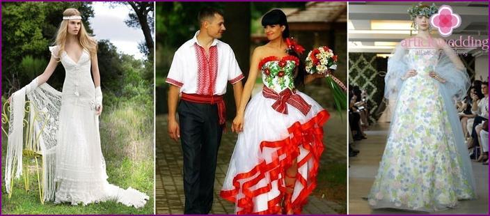 Brautkleider in slawischen Stil: Modelle und Stile der alten Kostüme ...