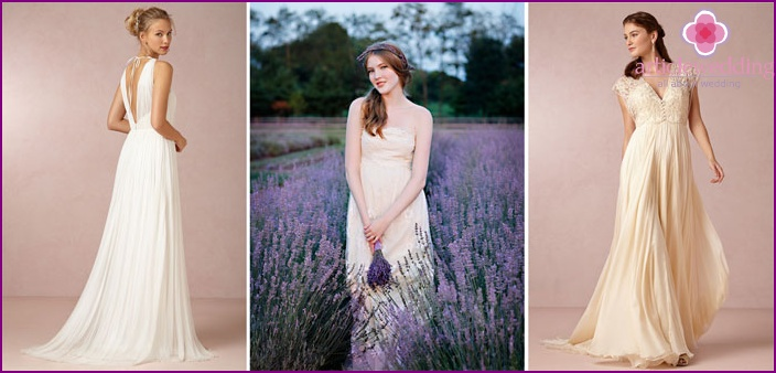 Dress for the bride in the style of Provence