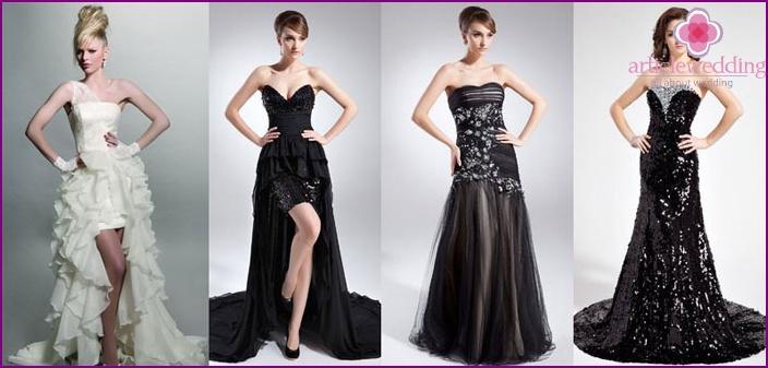 Favorito Abiti da sposa in stile rock - stili, modelli e accessori con foto LY45