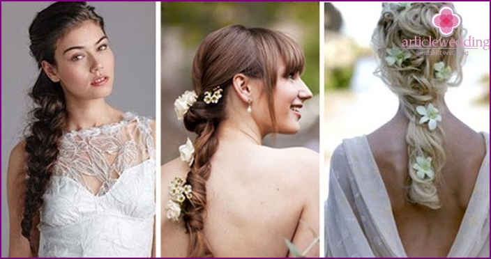 Variants of the French braid