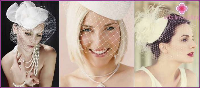 Decorations for wedding hairstyles: veils