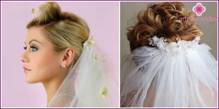 Veil on the hair bundle