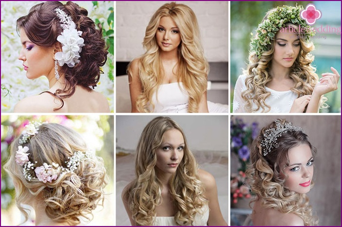 As just put curls in a wedding hairstyle