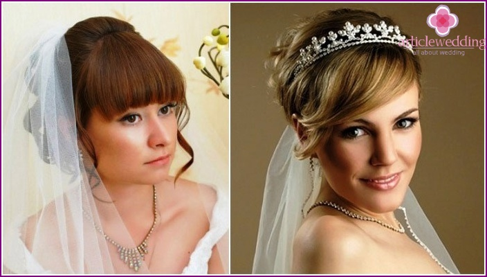 Wedding styling: bangs and veil