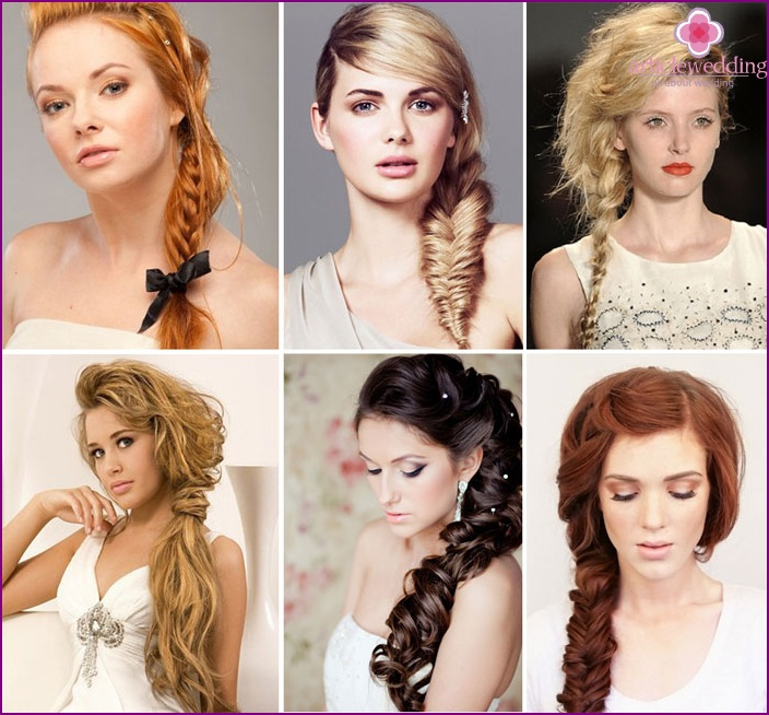 Simple bohemian braid for the bride